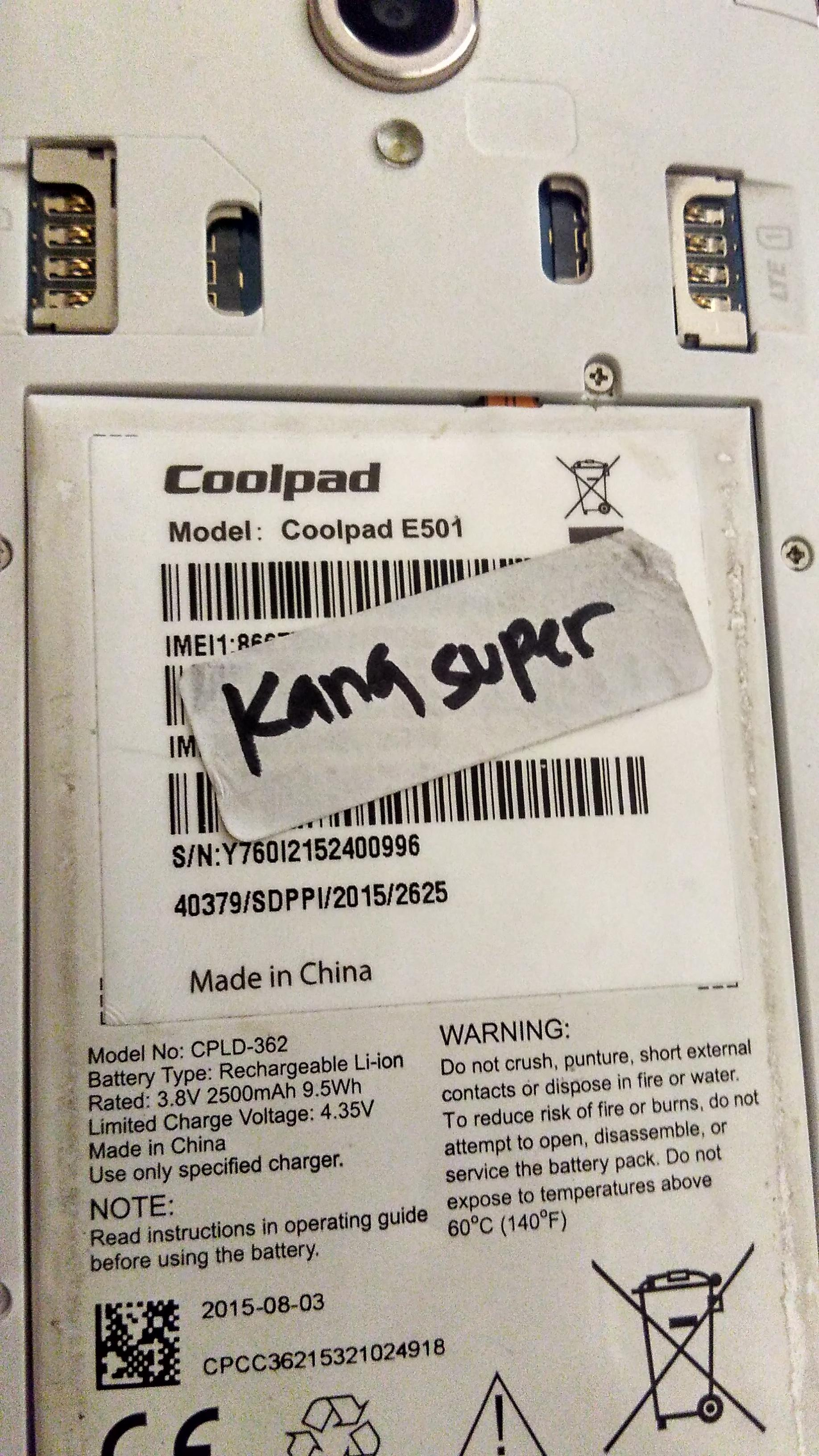 Coolpad E2 Edl Point